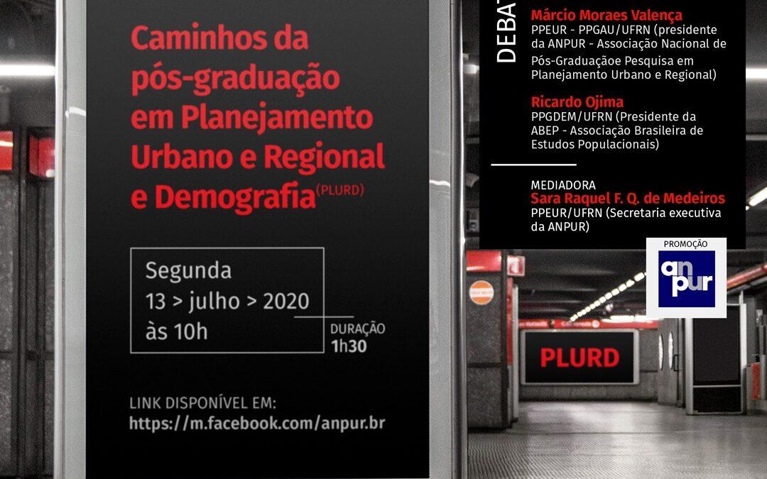 Caminhos da pós-graduação em Planejamento Urbano e Regional e Demografia (PLURD)