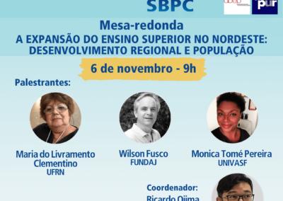 72a RA SBPC   Mesa Redonda: Expansão do ensino superior no NE: desenvolvimento regional e população